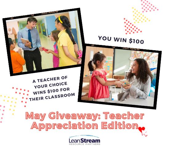 Blog popup- May Teacher Giveaway